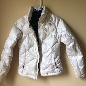 Women's White North Face Coat XS